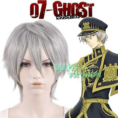 07-Ghost Ayanami Short Silver Grey Heat Resistant Anime Cosplay Wig