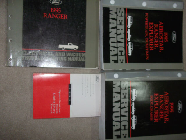 1995 Ford Ranger Truck Service Shop Repair Manual Set W