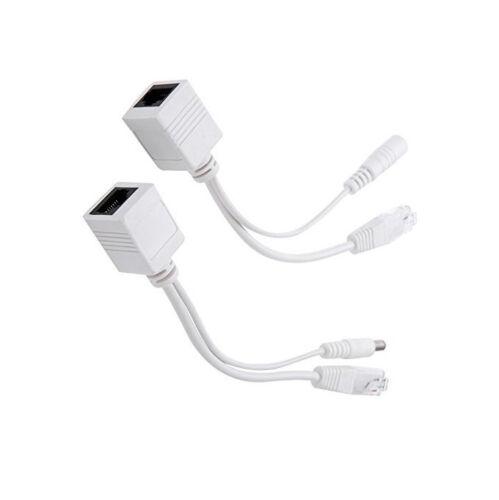 1PCS Power Over Ethernet Passive PoE Adapter Injector Splitter Kit PoE Cable K