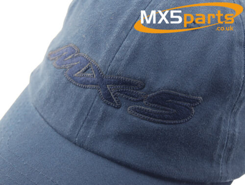 Official Mazda MX5 Merchandise Baseball Style Cap Hat Blue With Large MX5 Logo