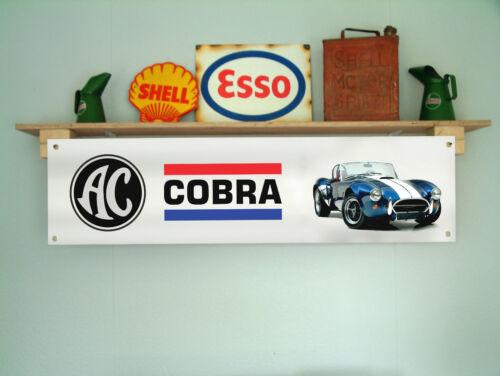 AC Cobra banner poster workshop garage classic car show display