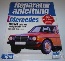 Reparaturanleitung Mercedes W 123 200 D 240 D 300 D TD Turbo Diesel ab 1979 NEU!