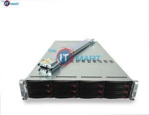 Supermicro-2U-6026TT-HDTRF-2-Node-4x-X5650-2-66GHz-6C-64GB-12x-1TB-SATA-Rails