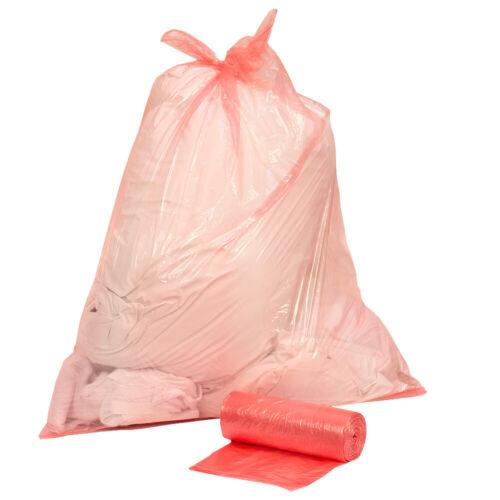 25 Pack 50 L Rouge Entièrement soluble sac à linge