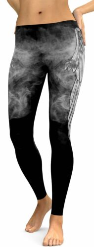 Women Funny Print Yoga Pants Fitness Legging Running Gym Workout Sports Trousers