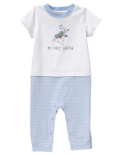 NWT Gymboree Peter Rabbit Bunny Romper 3 6 12 18mo Baby Boy My first Easter