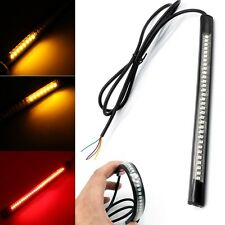 32LED Universal Flexible Motorcycle Tail Brake Stop Strip Light Turn Signal Lamp