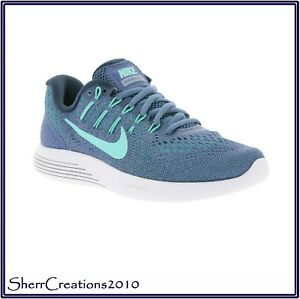 New Women's AA8677-400 Nike Lunarglide 8 Athletic Running Shoes #171125-649