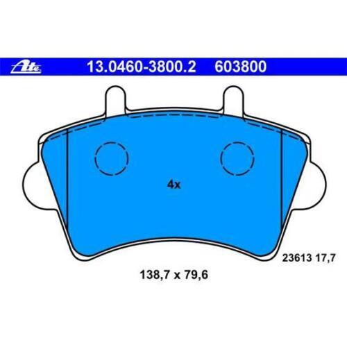 ATE 13.0460-3800.2 Bremsbeläge Bremsbelagsatz für RENAULT