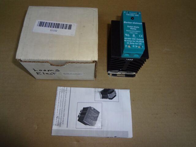 Barber-Colman  HAC//1B0 25 AMP Solid State Relay RSSA LR59793 48-660 VAC