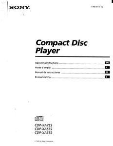 repair manual sony cdp xa555es cd player