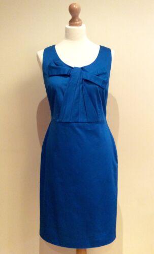 BODEN Vestido Azul Talla 10 R Algodón Tejido Elástico arco frontal