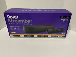 **BRAND NEW** ROKU Streambar 4k PREMIUM Streaming Media Player Stereo SPEAKER