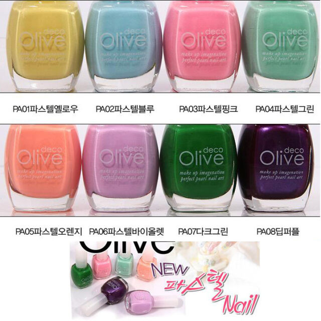 Korean Cosmetics Olivedeco Pastel Nail Polish Manicure Multi-Color 13 ml