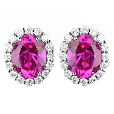 2.85Ct Natural Australian Opal /& IGI Certified Diamond Studs In 14KT White Gold