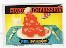 figurina CARDS MEGA SGORBIONS SONO DOLCISSIMA - PERMESSO DI FICCARE IL NASO