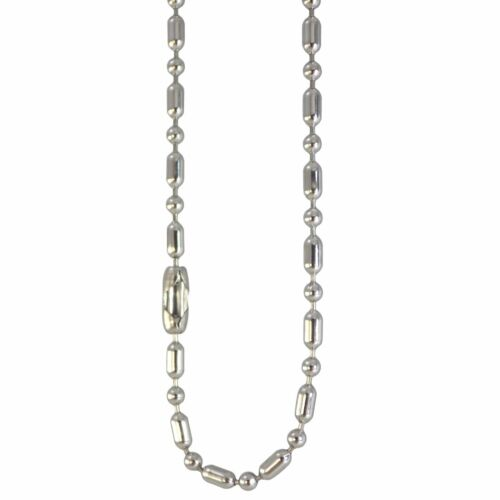Ball and Link Chain Surgical Stainless Steel 15-30 Inch 2.3mm Hypoallergenic