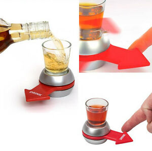 Drinking spin arrow pointer funny alcohol game holiday for Food bar drinking game
