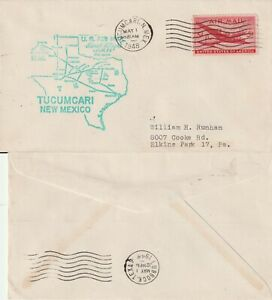 US-1948-AM-64-FIRST-FLIGHT-FLOWN-COVER-TUCUMCARI-NEW-MEXICO-TO-LUBBOCK-TEXAS