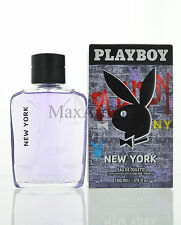 New York by Playboy Eau De Toilette 3.4 OZ  for Men NEW
