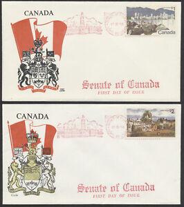 1972-600-601-1-2-Landscape-Definitives-FDCs-Cole-Cachets-Senate-of-Canada