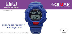 Vintage Uhren Q&Q Der Light. 9910, Wr. 5m. Lap Speicher 10. (M111 003)