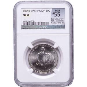 NGC PF69 ~ 1982-S George Washington Half Dollar Silver Commemorative Coin