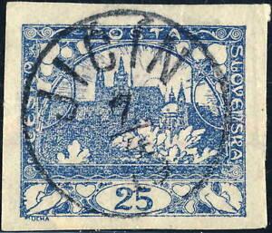 TCHECOSLOVAQUIE-CZECHOSLOVAKIA-1919-034-JI-N-034-3rd-Type-J-1-V-895-3-on-Mi-5