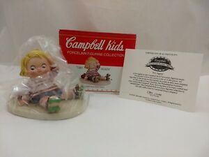 1999-Campbell-Kids-Collectible-Porcelain-Figurine-034-Try-Again-034-Roller-Skating-Boy
