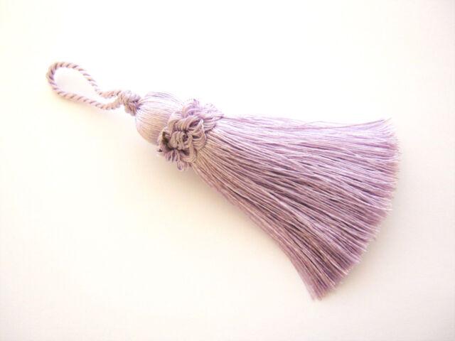 Lilac key tassel - 10cm + loop - Luxury blind cushion curtain or fabric trim