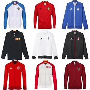 Details about adidas ANTHEM JACKET TRACK TOP CHELSEA MAN UTD BELGIUM RUSSIA REAL MADRID JUVE