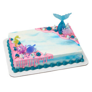 Details About Mermaid Sea Life Tail Cake Decoration Decoset Cake Topper Set