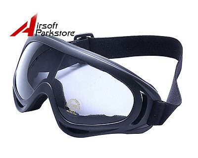 Tactical Airsoft UV400 Wind Dust Surfing Ski Protection Safety Goggle Glasses