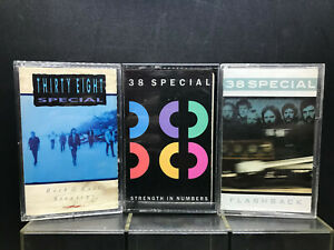 MUSIC-Cassettes-38-SPECIAL-Flashback-Strength-in-Numbers-Rock-amp-Roll-Strategy