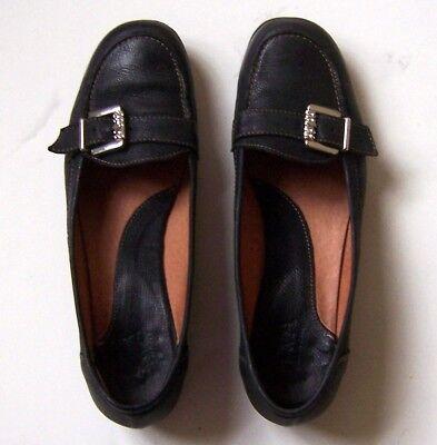 Schwarze Leder Ballerinas Gr. 40 Halbschuhe wenig getragen