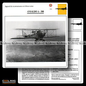 025-10-ANSALDO-A-300-Biplan-Fiche-Avion-Airplane-Card