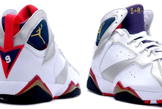 2012 Nike Air JORDAN Retro VII jeux olympiques de 7 Chaussures de sport pour hommes et femmes