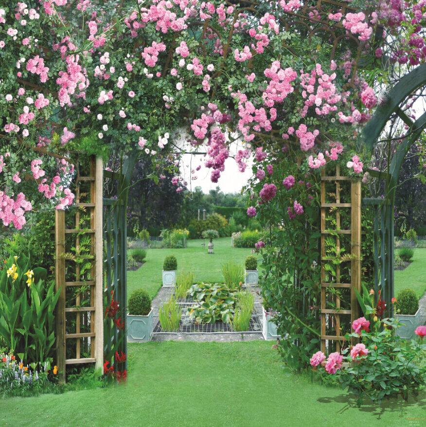 3D Beautiful Garden Landscape 31 Wall Paper Wall Print Decal Wall AJ Wall Paper