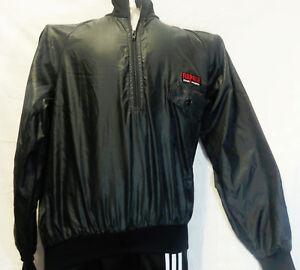 vtg-RAPALA-NORMARK-Fishing-Black-Windbreaker-Tag-Medium-Mens-Jacket