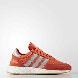 Women BA9998 Adidas INIKI Running shoes orange grey brown sneakers