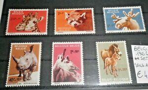 FRANCOBOLLI-BELGIO-BELGIUM-1961-034-FAUNA-ANIMALI-034-SERIE-NUOVA-MNH-SET-C-5