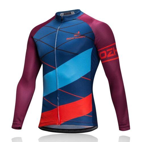 Men/'s Cycling Clothing Long Sleeve Jersey and Cycle Long Bib Pants Set S-5XL