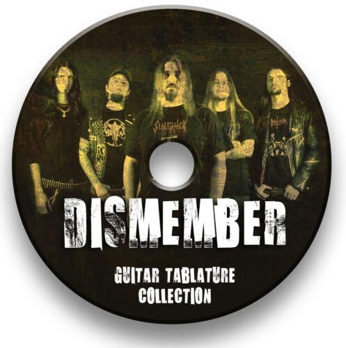 DISMEMBER DEATH METAL ROCK GUITAR TAB TABLATURE SONG BOOK SOFTWARE LIBRARY CD