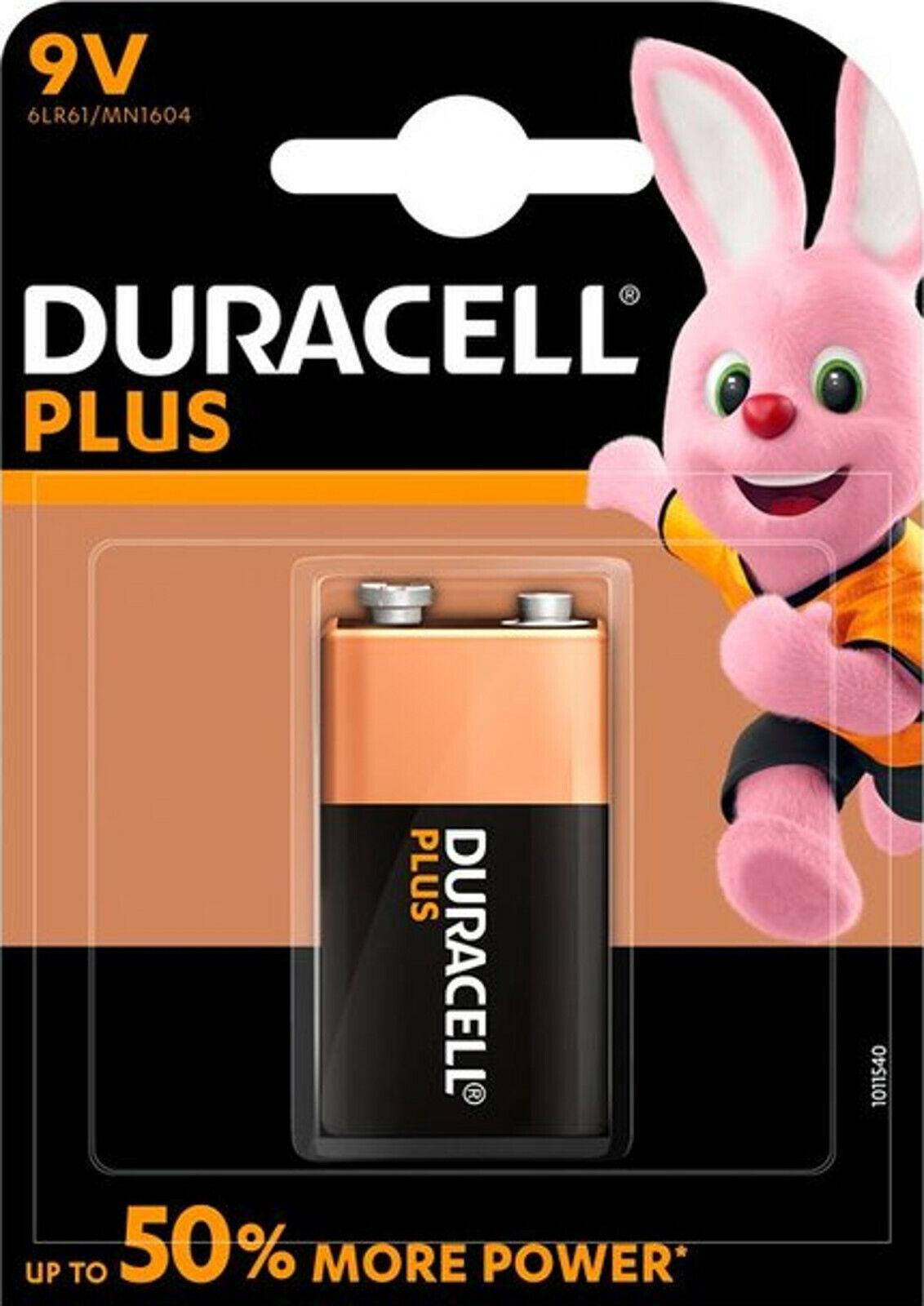 5x Duracell 9V Block MN1604 6LR61 Plus Power 1er Blister 6LP3146