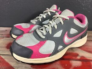 Nike Advantage Runner 2 Running Shoes, #525439-002, Grey/Pink, Youth Size 4y