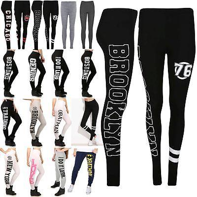 Ladies Women Chicago Brooklyn 76 Skinny Gym Jegging Yoga Running Sports Leggings