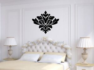 Damask Embellishment Vinyl Decal Wall Sticker Master Bedroom Living ...