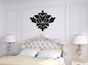 Damask embellishment vinyl decal wall sticker master for Room decor embellishment art 3d