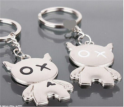 2pcs Love Key Ring Keyfob Couples Romantic Keychain Lover Gift Fashion HG044-10