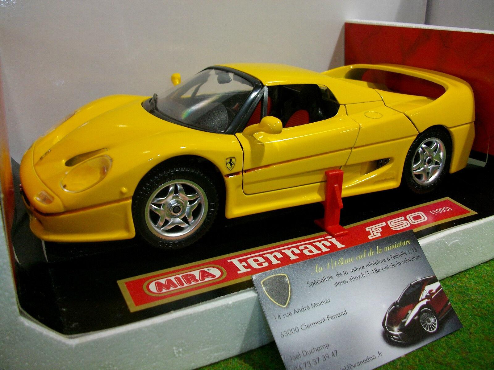 Ferrari f50 berlinetta hard  top 1995 1 18 mira 6210 voiture miniature collection  gros pas cher